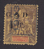 Guadeloupe, Scott #53, Mint Hinged, Navigation And Commerce Surcharged And Overprinted, Issued 1904 - Unused Stamps