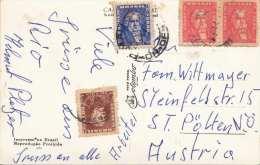 BRASILIEN 1960? - 4 Fach  Frankierung Auf Foto-Ak Rio De Janeiro, Gel.v. Brasilien > Österreich - Brasilien