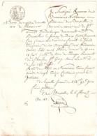 QUITTANCE Fait à Bruxelles Le 6 Florial  1813 - Superbe Sur Papier Filigrané TIMBRE NATIONAL BEAU CACHET FRANCAIS - Documentos Históricos