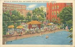 SAVANNAH - Hotel De Soto - Section Of Swimming Pool And Garden - Savannah