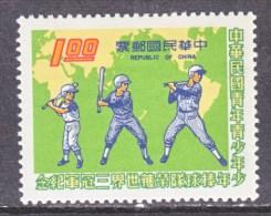 ROC 1920     **       MAP  BASEBALL - 1945-... Republic Of China