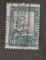 Perforé/perfin/lochung Greece Hellas Grece SG 414 Scott No 325 1927 B.C.I  Banca Commerciale Italiana - Grèce