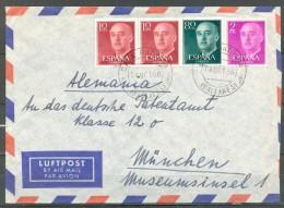 1956 , BALEARES , SOBRE CIRCULADO ENTRE CALA RATJADA Y MUNICH . - 1931-Hoy: 2ª República - ... Juan Carlos I