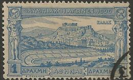 GREECE - HELLAS Olympic Games 1896 1drx Used - 1896 Primeros Juegos Olímpicos