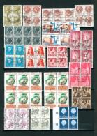 MONDE ENTIER OBLITERES - BLOCS DE 4 MINIMUM - BANDES - BLOCS - Lots & Kiloware (mixtures) - Max. 999 Stamps