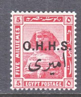 EGYPT  Official  O 13    *    1914  Issue - Officials