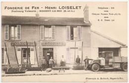 28 - NOGENT-le-ROI - Faubourg Valmorin - FONDERIE De FER - Henri LOISELET ++++ HERSES +++ RARE / TOP - Nogent Le Roi