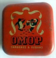 PUBLICITE. BOITE:OMOP Carbone Et Ruban - Boxes