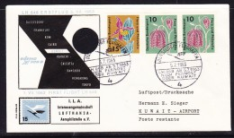 Germany 1963  Lufthansa LH649  Dusseldorf To Kuwait   Flight Cover - [7] Federal Republic