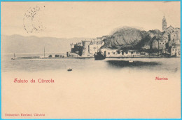 SALUTO DA CURZOLA - Marina  ( Croatia ) * Travelled * Island Korcula * Istria Croazia * By Domenico Benussi - Croatia