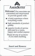 AmeriSuites Room Key Card - Hotel Keycards
