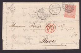 GRANDE BRETAGNE-Perforés-Perfins-Perforé-Perfin- 1874 - - Perfins