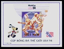 Vietnam Viet Nam MNH Perf Souvenir Sheet 1994 : World Cup Football In USA (Ms682B) - Vietnam