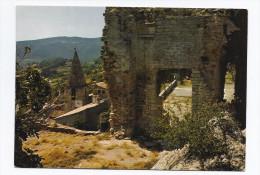 CPSM 84 - CRESTET - LE CRESTET Ruines Du Château Du XIIè - Le Clocher De L´Eglise Du Village - Sonstige Gemeinden