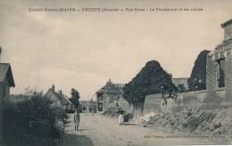 80 - ERCHEU- SOMME - Rue Basse - Le Pensionnat Et Ses Ruines - France