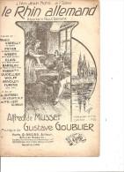 Le Rhin Allemand, Illustrée Clérice Frères.de Musset & Goublier. - Partitions Musicales Anciennes