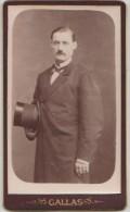 PHOTO CDV XIX° Notable Maire De Saint André De L´Eure Mr ESCOMBAR Décédé En 1888 Photographe G. GALLAS LAVAL - Photographs