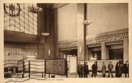 CPA MULHOUSE. La Nouvelle Gare, Comptoir Vente Billets Chemins De Fer Alsace Lorraine1933. - Estaciones Sin Trenes