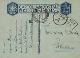 MARINA MILITARE WWII FRANCHIGIA CENTRO RADIO SANT'ALESSANDRO 1942 X LIVORNO - 1900-44 Vittorio Emanuele III