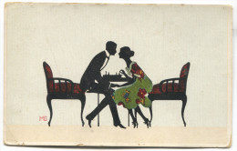 Lady Gentleman Chess, Sign. MG, Silhouette PC - Silueta