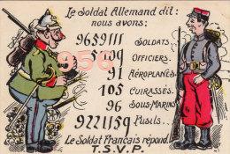 CPA * * Le Soldat Allemand Dit: . . . * * - Humour
