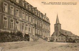 CPA- REVES (Belgique-Hainaut) - Institut Sainte-Marie Des Marianistes Et Vue Sur L'Eglise En 1923 - Les Bons Villers