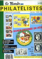 Le Monde Des Philatelistes N.415 01/1988,bande Dessinée,carte Dessinée,De Gaulle-Adenauer,théâtre,carnet Actuelle Monde - Magazines