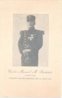 CARLOS MANUEL M. RESTITUTO CAPITAN CUERPO DE BOMBEROS DE LA CAPITAL BUENOS AIRES ARGENTINE UNIQUE EN DELCAMPE UNICA RARI - Brandweer