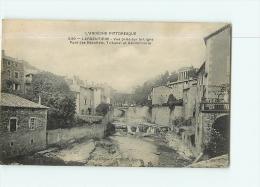 LARGENTIERE : Vue Prise Sur La Ligne, Pont Des Recollets, Tribunal, Gendarmerie. 2 Scans. Edition Artige - Largentiere