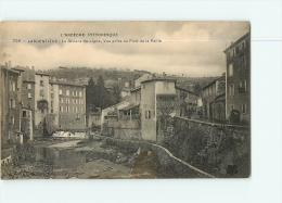 LARGENTIERE : La Rivière De Ligne, Vue Prise Du Pont De La Paille. 2 Scans. Edition Artige - Largentiere