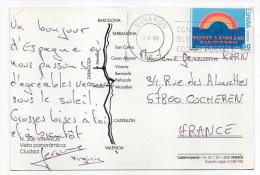 Espagne--1995--carte Postale De VINAROS Pour La France--joli Timbre - 1991-00 Lettres