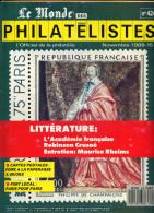 Le Monde Des Philatelistes N.424 11/88,Academie Française,débaptisation Commune,ile Rob Crusoé,olympiades,lettre Locale - Magazines