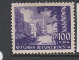 CROATIE N° 45A 100K VIOLET BENJALUKA NEUF AVEC CHARNIERE - Kroatien