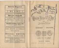 """Bulletin  """"Union Jeanne D'Arc"""" Des Jeunes Filles Du Diocèse De Châlons-sur Marne - Mensuel  Décembre 1929 - Publicités"""