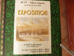 Exposition Art PTT La Poste Recette Principale 1995 Toulouse Pont Neuf - Affiches
