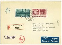 STORIA POSTALE - LIECHTENSTEIN - ANNO 1941 - LUFPOST - PER JAROSLAU - (DISTR. KRAKAU ) - TRIESENBERG 720 - - Liechtenstein