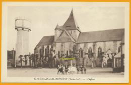 76 Saint-Nicolas-d'Aliermont Cpa22 L'église, Religion, Neuve, Qualité **** - Autres Communes