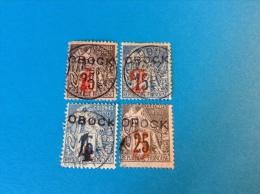 Obock 1892: Yv. 21, 23, 24, 26 Oblit B-TB