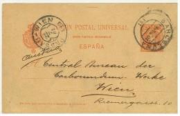 STORIA POSTALE - ESPANA - SPAGNA - UNION POSTAL UNIVERSELLE - BARCELONA - PASSAO - WIEN - ANNO 1901 - RIEMERGOSSE - - Marcas De Censura Nacional