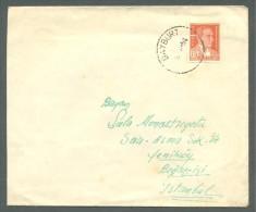 1954 TURKEY COVER USED - 1921-... Republik