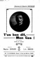 PARTITION MUSICALE  - CHANSONS DE MAURICE DOUBLIER  - T´ AS BEN DIT MON GAS ! - Partitions Musicales Anciennes