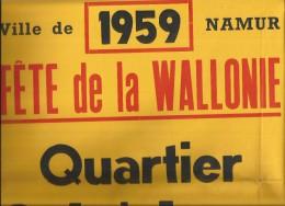 Belgique:NAMUR:Fête De La Wallonie 1959:Quartier Saint-Loup. - Affiches