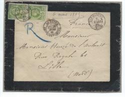 Haïti. 7 Mars 1885. Lettre Affranchie 5c X 2 Dentelé Vert-jaune Avec Correspondance. RRR - Haiti