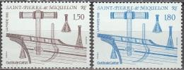 Saint-Pierre Et Miquelon 1992 Yvert 561 - 562 Neuf ** Cote (2015) 1.80 Euro Outils De Calfat - Neufs