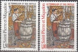 Saint-Pierre Et Miquelon 1995 Yvert 612 - 613 Neuf ** Cote (2015) 1.80 Euro Le Tonnelier Et Ses Outils - Neufs