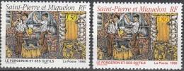 Saint-Pierre & Miquelon 1996 Yvert 628 - 629 Neuf ** Cote (2015) 1.80 Euro Le Forgeron Et Ses Outils - Neufs