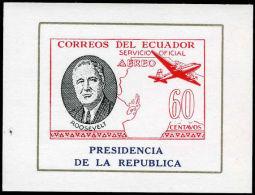 Ecuador 1949 Presidencia Roosevelt 60C Air Block , Unmounted Mint. - Ecuador