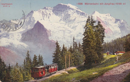 MURRENBAHN MIT JUNGFRAU 1918 - Funicular Railway