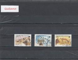 Uzbekistan 1995 - 3  Stamps Used     Protezione Fauna - Uzbekistan