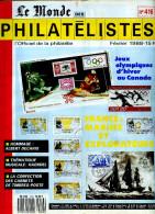 Le Monde Des Philatelistes N.416 2/88,JO Hiver Calgary,carnet Monde,1.emission France,Decaris,theatre,Haendel Musique - Magazines